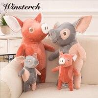Đáng yêu Plush Đồ Chơi Pig Nhồi Bông Mềm Doll Gối Bé Ngủ Búp Bê Sang Trọng Lợn Brinquedos Kids Quà Tặng WW332