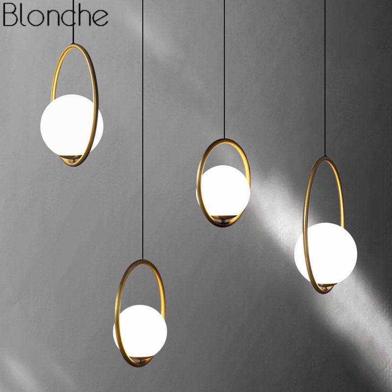 Modern Led Chandelier Restaurant Fixtures Glass Ball Luminaires Nordic Hanging Lights Bedroom Lighting Living Room Pendant Lamps Ceiling Lights & Fans