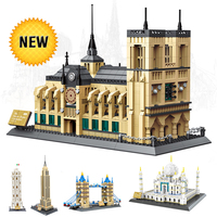 World Great Architecture 1977pcs Building Blocks Constructor Model legoinglys City House Bricks Decor Gift Toys for Children Kid