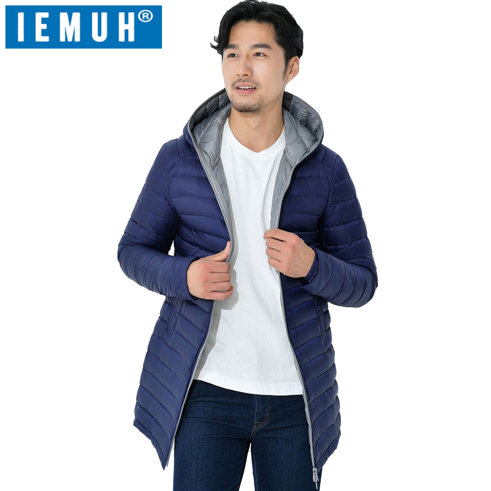 IEMUH 2017 Winter Duck Down Jacket Men Long Coat Parkas Thickening Male Warm Clothes 90% White Duck Down High Quality Men Jacket