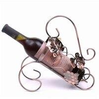 031417 Fashion Tantalus Creative Wine Rack Wrought Iron Frame Grape Leaf