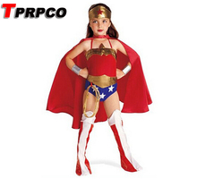 TPRPCO Halloween Superman Wonder Woman Children Party Cosplay Costumes Gift For Girls Clothes Children's Clothing Set C55148(China)