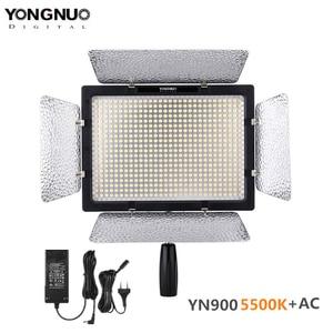 Image 1 - YONGNUO YN 900 YN900 5500 k אלחוטי LED וידאו אור לוח Pro LED וידאו סטודיו אור בקרת עבור Canon עם DC כוח מתאם