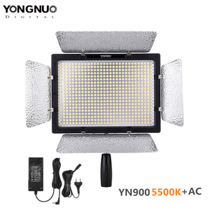 Image 1 - Yongnuo YN 900 yn900 5500 k sem fio led painel de luz vídeo pro led vídeo studio luz controle para canon com adaptador energia dc