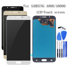 ЖК дисплей AMOLED 5,7 дюйма, для Samsung Galaxy A8 2015, сенсорный экран, дигитайзер, аксессуары, Замена для Samsung A8000, A800, A800F
