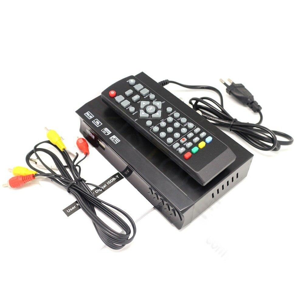 דרום אמריקה FTA ISDB-T מקלט טלוויזיה דיגיטלית יבשתי אות אנטנה H.264 HD 1080 P מקלט להגדיר תיבה עליונה אנטנת UHF VHF מפענח