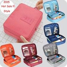 New 2015 Nylon Multifunction Make up Organizer bag Women Cosmetic bags Travel Bag Handbag Bolsas Free shipping
