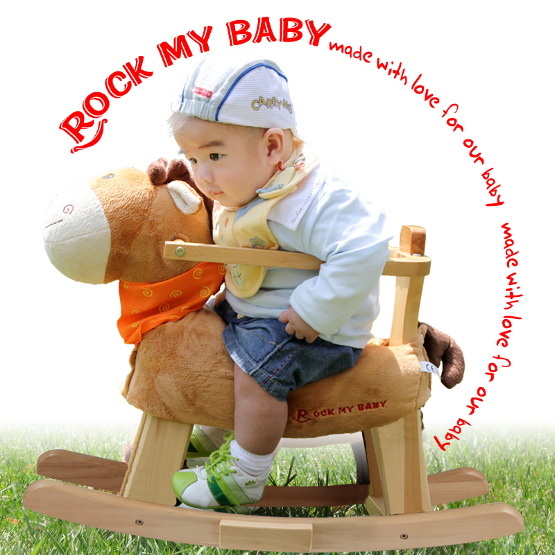 2017 Limited Sale Unisex 2-4 Years Kids Shake Baby Horse Wooden Rocking Dual-purpose Chair Toys With Music Puzzle Gift 0-3years 2015 hot sale limited 1 2 years tea gift packing qs health tea sweet gift set 40