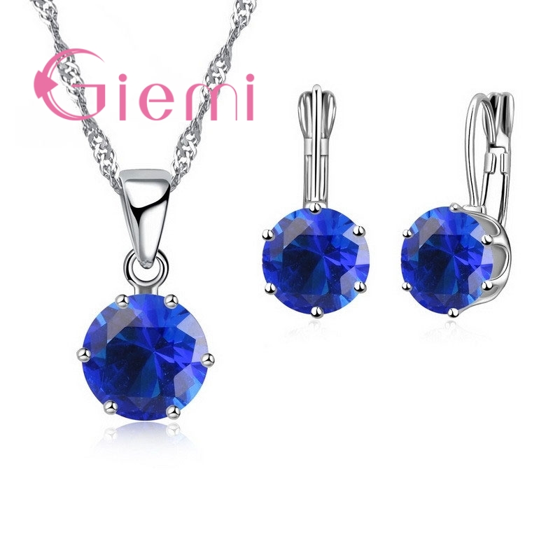 Giemi New Fashion Mewah Perhiasan CZ Set 925 Sterling Silver Earring - Perhiasan fashion - Foto 4