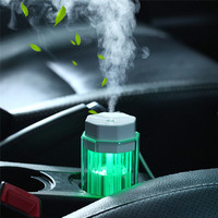 Car USB 90ml Led Light Air Freshener Humidifier Essential Oil Aroma Diffuser Fogger For Home Office
