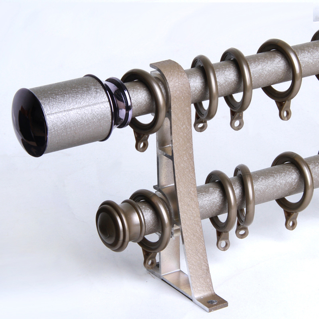 Curtain Rod Track Mute Painted Leather Aluminum Alloy Reinforced Single And Double Custom Made Roman