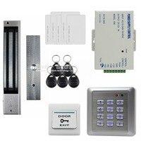 DIYSECUR Wasserdichte 280 KG Magnetverschluss 125 KHz RFID Keypad Tür Zutrittskontrolle Sicherheitssystem Türschloss Kit W4-in Zugangs Control Kits aus Sicherheit und Schutz bei
