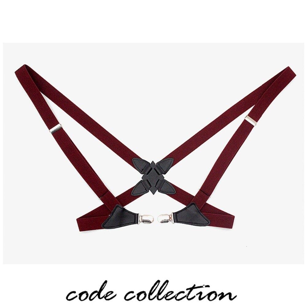 New Vintage Holster Elastic Suspenders Braces 2 Clip For Men Women Strap Clip Side Clip Adult Men's Harness Suspender Male Belt