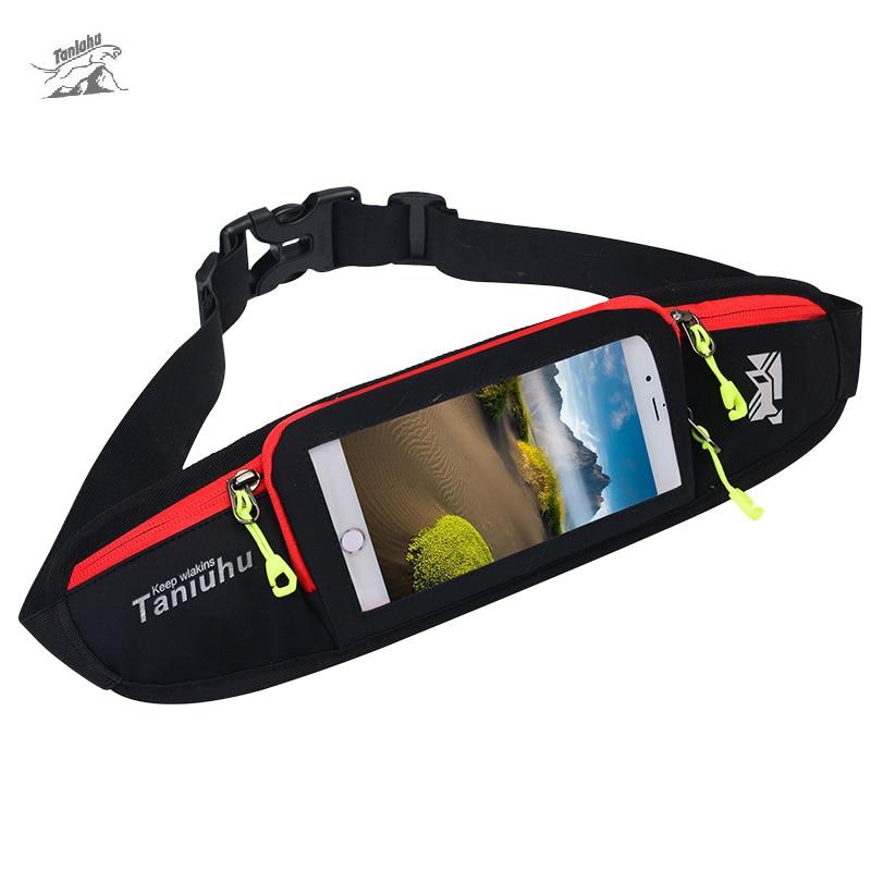 Prix pour Tanluhu Multifonction Sport Courir Sac Anti-vol Gym Courir Tactile Écran Téléphone Sacs Unisexe Jogging Taille Sac Ceinture Poche