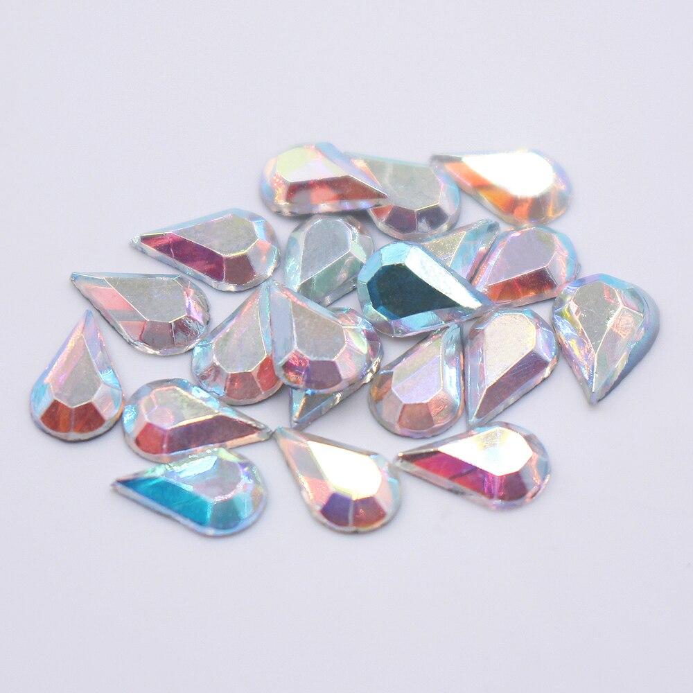 Uitverkoop 2x260 stks Drop Water 5X8mm Crystal AB Hotfix Strass Ijzer - Kunsten, ambachten en naaien