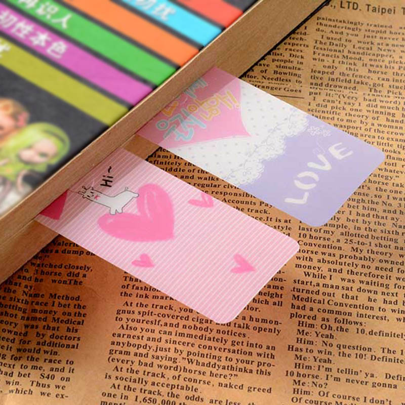 US $0 94 |9 pcs/lot Cute Kawaii Rabbit PVC Bookmarks Lovely Heart Book  Markers For Books Korean Stationery Student 3803-in Bookmark from Office &