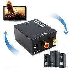 Óptico Coaxial Toslink Digital a convertidor de Audio analógico adaptador RCA L/R 3,5mm