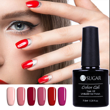 UR SUGAR 7.5ML Classic Red Pink Nail Gel Polish Nail Art LED UV Soak off Lacquer Long Lasting 112 Colors Available DIY Painting