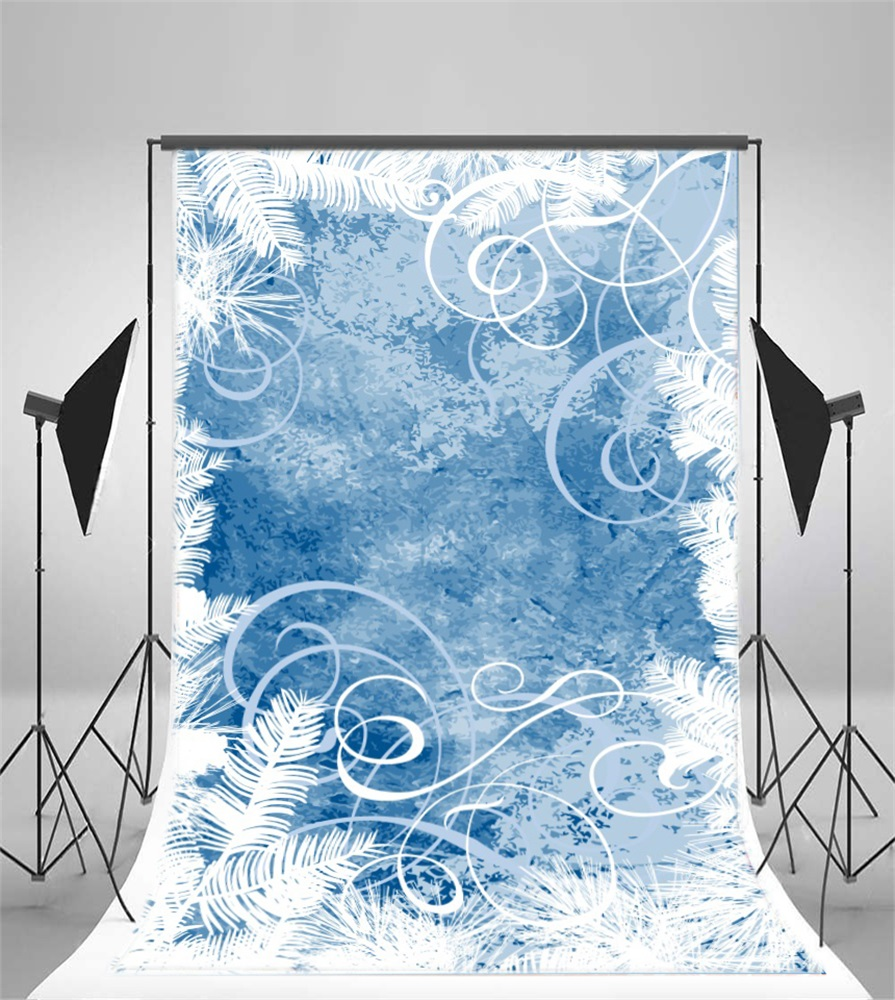 Laeacco Oil Painting White Flower Wall Pattern Winter Photographic Backgrounds Photography Backdrops Photocall Photo Studio in Background from Consumer Electronics
