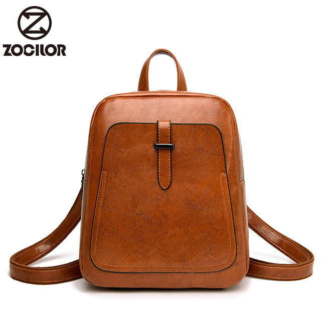 b641dd617b47 2019 Women Backpack high quality PU Leather Fashion Backpacks Female  Feminine Casual Large Capacity Vintage Shoulder Bags