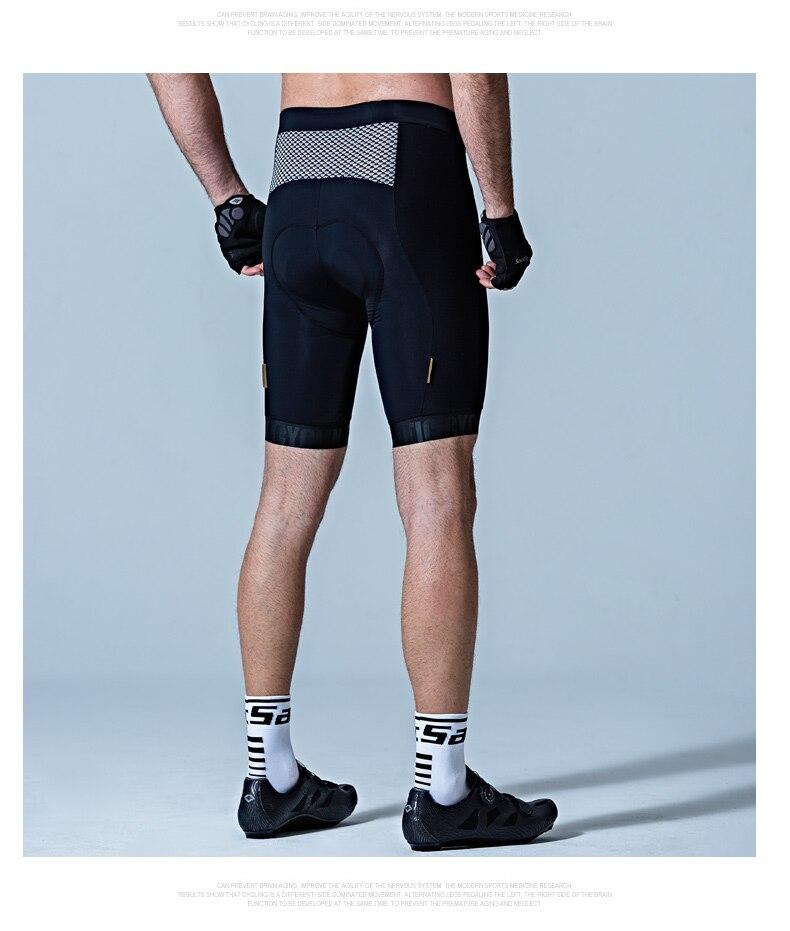 Santic, велосипедные шорты для мужчин, летние, Pro Coolmax 4D, итальянские мягкие шорты, ударопрочные, MTB, шоссейные, велосипедные шорты, ciclismo, черные - 5