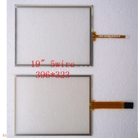 New 5pcs Lot 19 Inch 396 323 Resistive 5 Wire Usb Touch Screen Panel 4 3