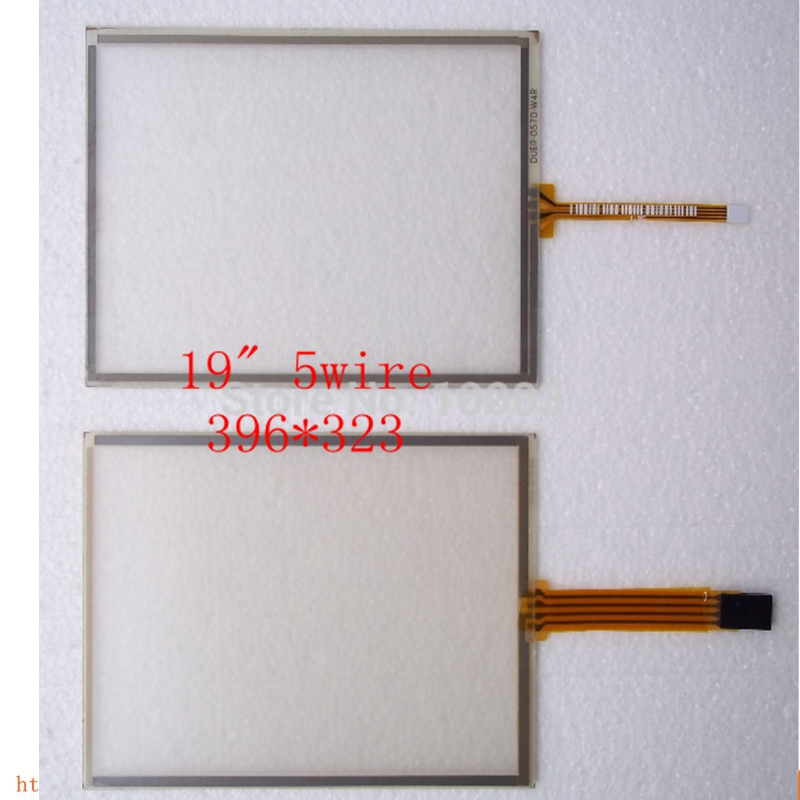 все цены на new 5pcs/lot 19 inch 396*323 Resistive 5 wire Usb touch screen panel 4:3 resistive touch screen panel
