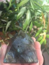 Natural beautiful labradorite quartz crystal pyramid samples to heal