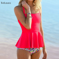 2017 Sexy Bikini Swimwear Women Swimsuit High Waisted Bathing Suit Ruffle Biquini Two Piece Tankini Plus