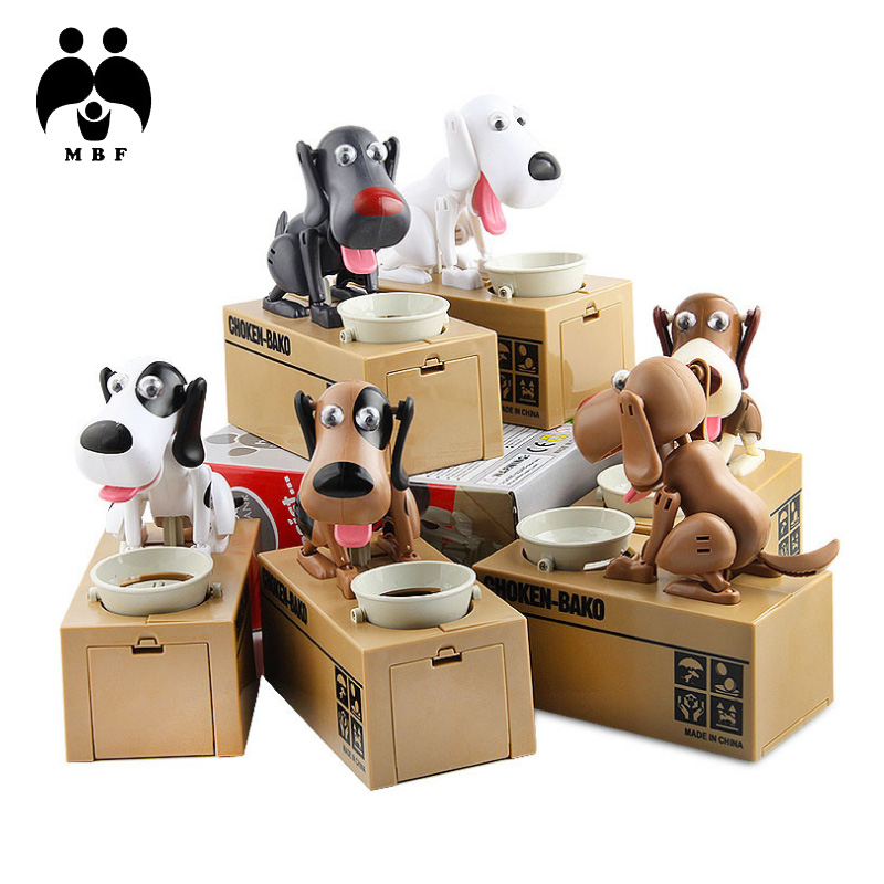 Children's cartoon toys Creative electric steals money piggy bank pots eat money dogs save money pots change pots toys explosion models money talks piggy bank creative gifts strange new children s toys tricky crafts decoration