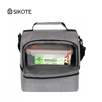 SIKOTE EVA Lunch Bags Double layer Waterproof Picnic Bag For Women Men Tote Bag Food Keep Cooler Warm Storage Container Box