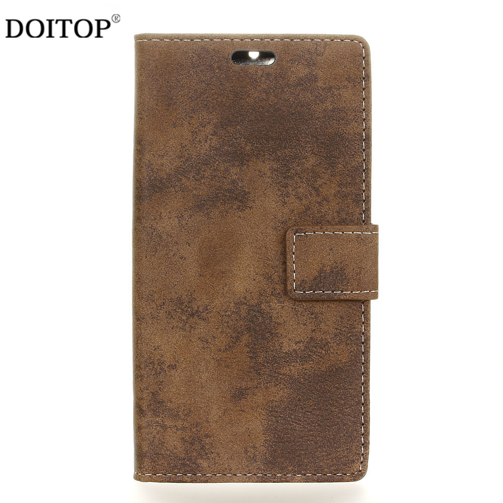 DOITOP Flip PU Wallet Case for Samsung Galaxy J7 Plus Max C7 2017 J5 2016 J1 Mini Prime XCover 4 G390F Retro Phone Bumper Cover