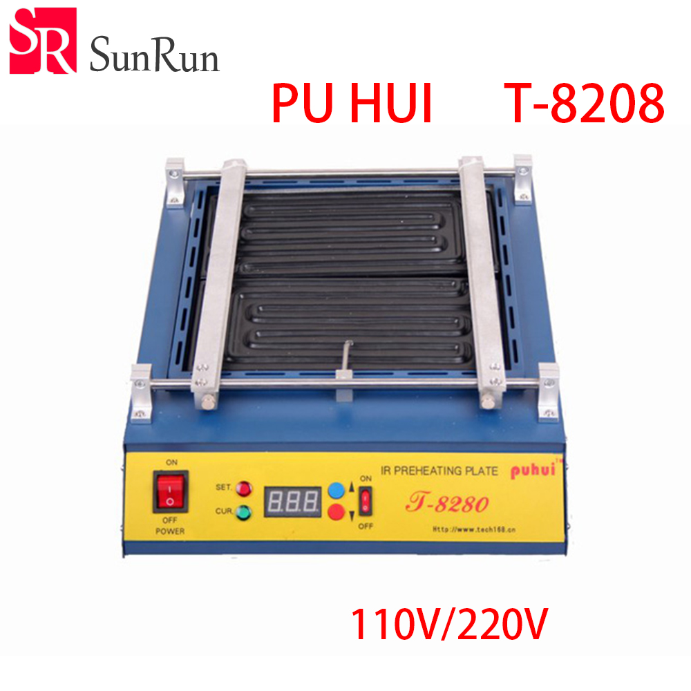 Puhui T8280 220V or 110V PCB Preheater T 8280 IR Preheating Plate T-8280 IR-Preheating Oven цены