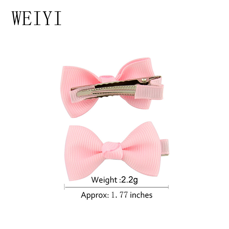 Baby Girls Bow Duckbill Clip Hairpin European American Fashion Style Polyester Ribbon manual exquisite 659