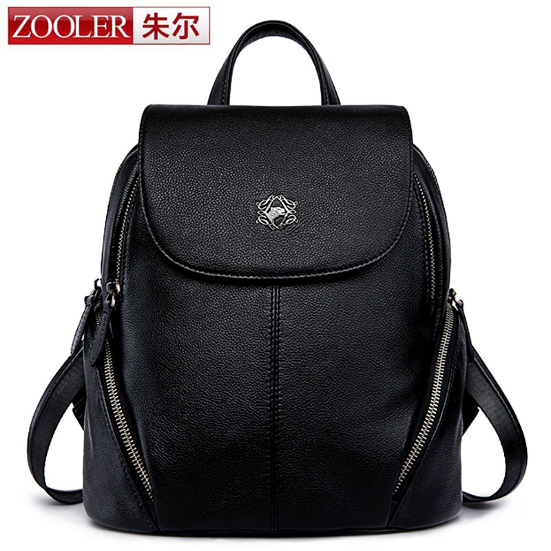 ZOOLER Hot Fashion Genuine Leather Travel Girls Backpack Youth Women Mochilas Feminina School Bags For Teenagers Sac A Dos Femme backpack mochila feminina mochilas school bags genuine leather backpacks women bag travel bagpack mochilas mujer 2017 sac a dos
