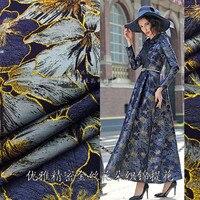 166 cm di larghezza e oro elegante tridimensionale precisione jacquard moda tessuto broccato tessuto vestiti vestito giacca a vento