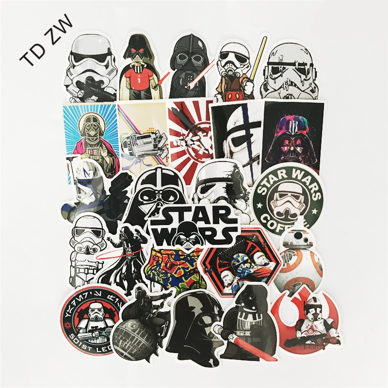 25pcs Star Wars Sticker Bomb Car JDM Decal Stickers For Graffiti Car Covers Skateboard Snowboard Motorcycle Bike Stickers