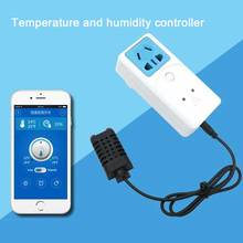 Itead S22 Sonoff WIFI Socket Inteligente Con Control de Temperatura Y Humedad Sensor EE. UU./UK/EU/Au del Casa inteligente Toma Automática