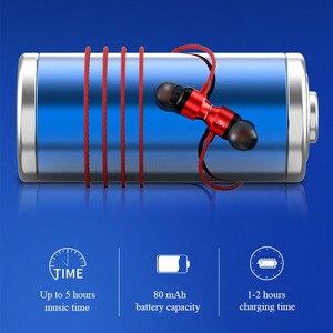 Image 2 - Atração Magnética Do Bluetooth Fone de Ouvido Neckband Esporte Fone de ouvido À Prova D Água No Ouvido Sem Fio com Microfone Com Cancelamento de Ruído Hifi