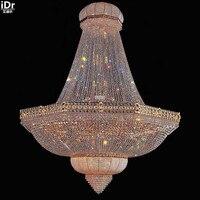 Золотые люстры висит кристалл лампы лампы фар дома отель лампы большой кристалл 240 см х 300 см H