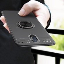 For One Plus 6T Case Rotating Magnetic Finger Ring Holder Stand Soft TPU Silicone Matte Back Cover oneplus 6 Phone cases