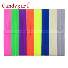 Baby hair accessories FREE SHIPPING 20 Solid colors  Elastic Headbands, DIY satin stretchy hairbands for kids (20 pieces/lot)