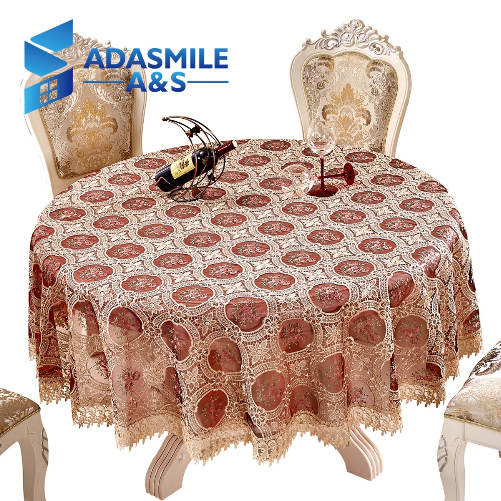 Adasmile Crochet Floral Elegant Round Lace Table Cloth Table Cover Overlays  Tablecloth For Banqute Wedding Party Decoration In Tablecloths From Home ...