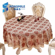 Adasmile Crochet Floral Elegant Round Lace Table Cloth Table Cover Overlays Tablecloth For Banqute Wedding Party Decoration