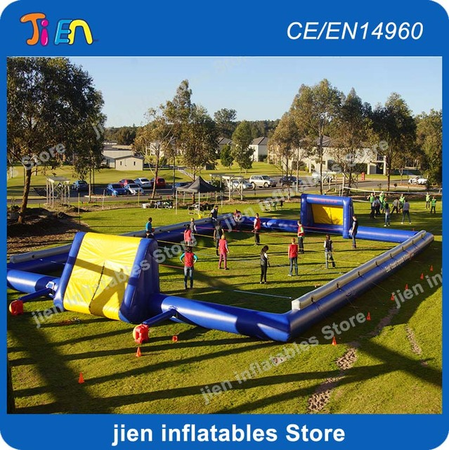 Aliexpress Com Buy G319 Soccer Shooting Custom: Free Shipping!giant Outdooer Inflatable Soccer Pitch