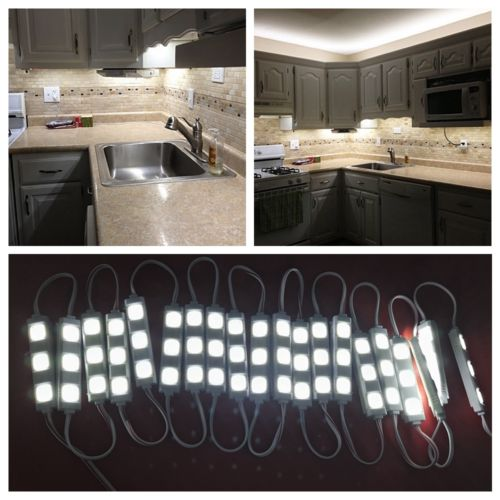 Tiras de Led d' Água smd5050 lâmpada luz Número Led/m : 20description Application : 1.cloconjunto Kitchen Under Cabinet Counter Lig