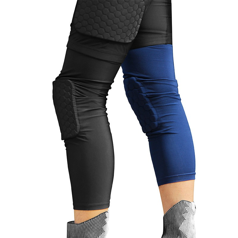 Hot 1PC Honeycomb Training Sportswear Elastic Protective Gear Knee Support Pad Breathable Brace Basketball Kneepad