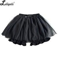 Sweet Lolita Bloomer Black/White Dotted Cosplay Shorts Elastic Waist Skorts