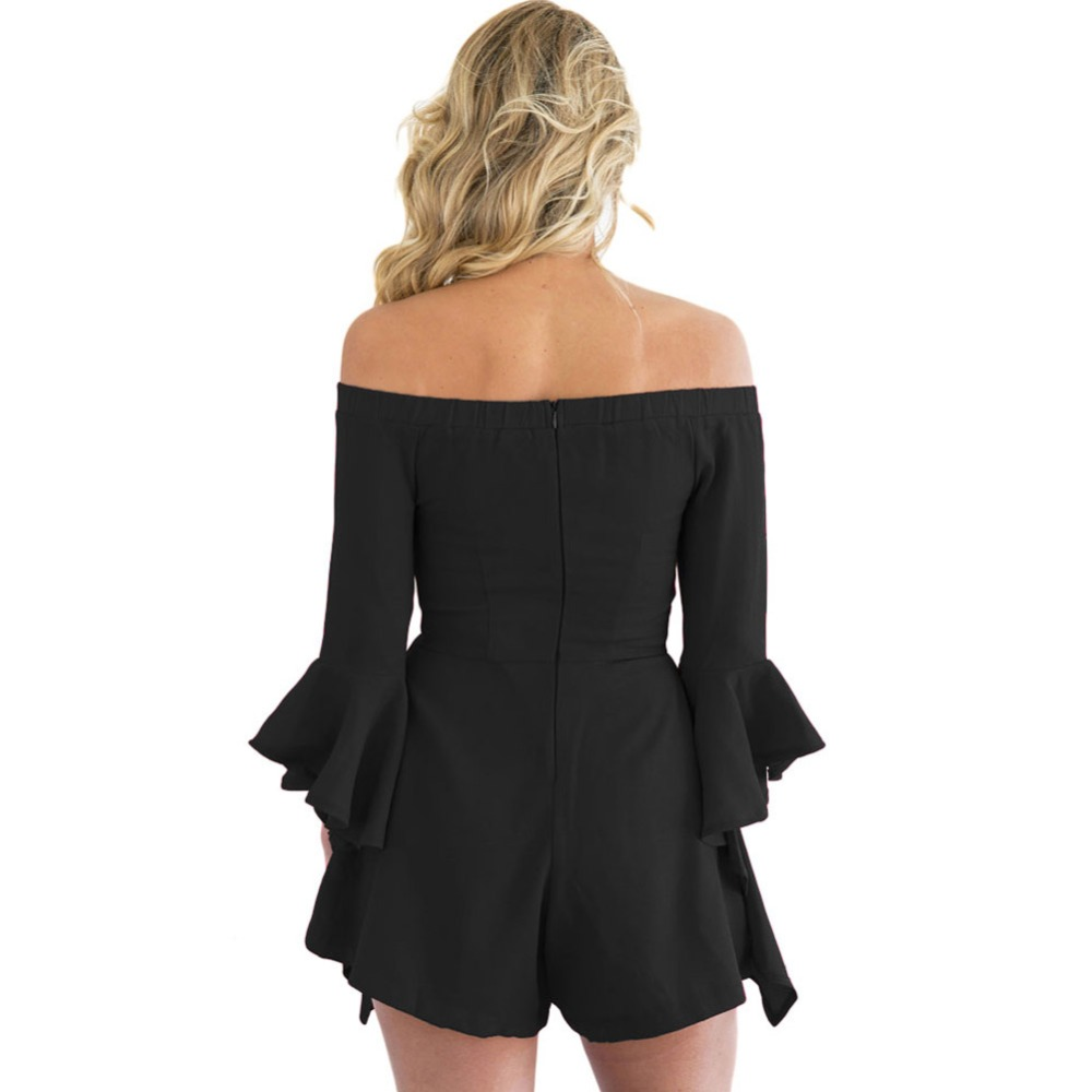 60e74aa8a9ee FGirl Womens Playsuits 2017 Off shoulder Frill Sleeve Playsuit Sexy Body  Women Rompers Playsuit FG21596-in Rompers from Women s Clothing on  Aliexpress.com ...