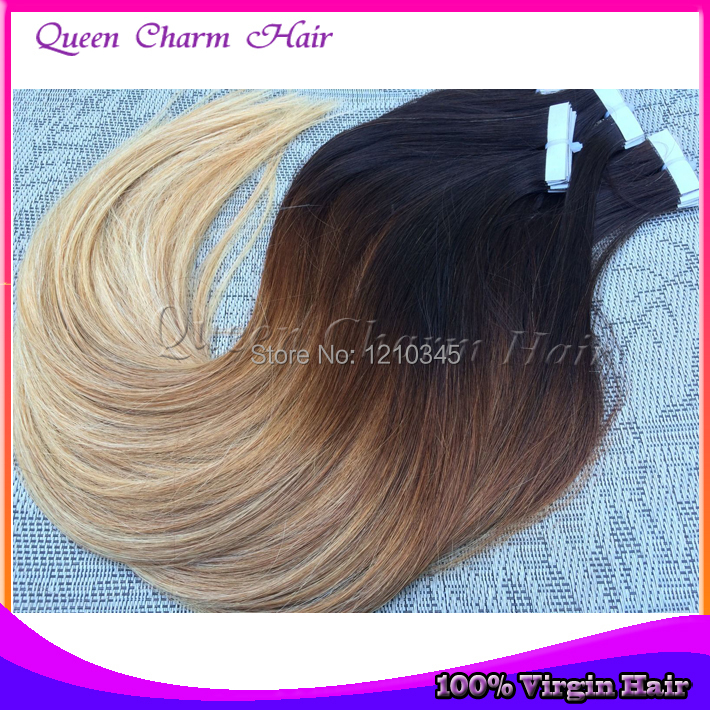 Cheap hot sale tape hair extensions 40pcs 1b424 ombre straight cheap hot sale tape hair extensions 40pcs 1b424 ombre straight brazilian virgin remy tape in skin weft humanhair extensions on aliexpress alibaba pmusecretfo Choice Image